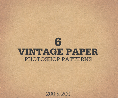 Free Vintage Paper Photoshop Patterns
