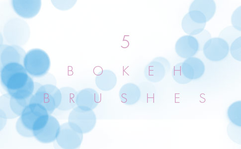 Set Of 5 Free Bokeh Brushes For Photoshop