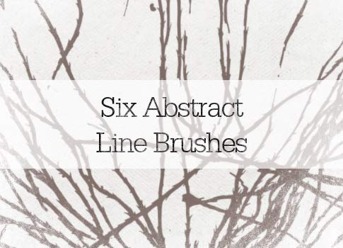 6 Abstract Lines Photoshop Brushes From Bittbox