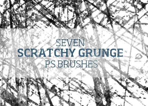 7 free scratchy grunge brushes