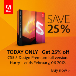 Save 25% Off Adobe CS5.5 Design Premium Full - Today Only