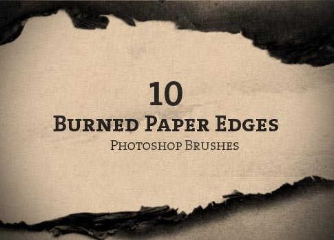 10 Free Photoshop Brushes - Burned Paper Edges