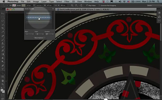 Photoshop CS6 Preview - Create Dashed And Dotted Lines With One Click - HD Video