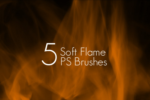 5 Free Soft Flame Photoshop Brushes