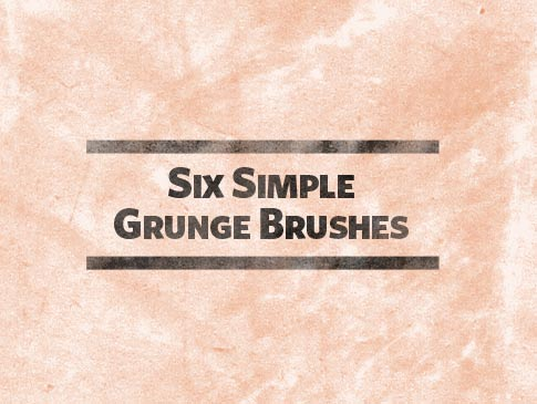 Free Photoshop Brushes - 6 Simple Grunge Brushes