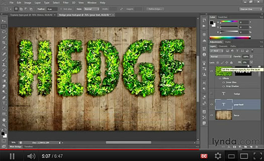Photoshop HD Video Tutorial - How To Create Leafy Letters In Photoshop