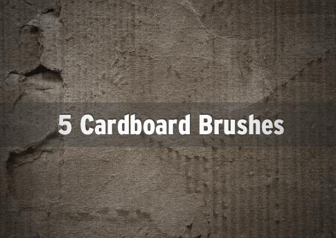 5 Free Cardboard Brushes - Photoshop Brush Set