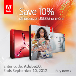 Adobe August Special - Save 10% On All Orders Of $375 Or More