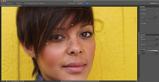 Using Iris Blur In Photoshop CS6 - Tutorial