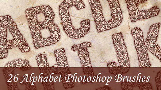 Alphabet Photoshop Brushes - Plus Tutorial On Creating Them Yourself