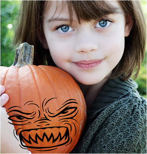 How To Carve A Punpkin In Photoshop - Video And Step-by-Step