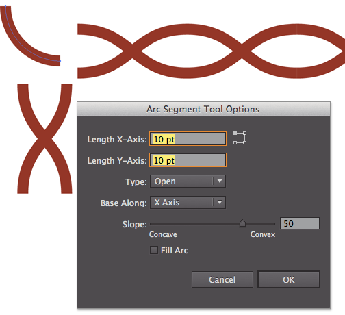 Creating Parts Of A Looping Braid For An Illustrator Pattern Brush