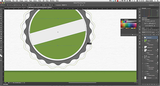 Create A Web Badge Using Vector Shapes Photoshop CS6