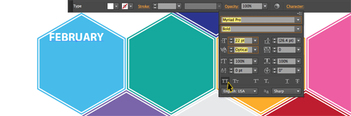 Create A 2013 Hexagonal Calendar In Illustrator