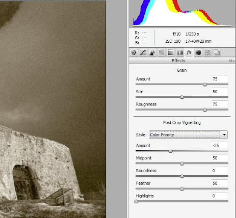 How To Create An Antique Photo Effect In Camera Raw - Video and Step-by-step Tutorial