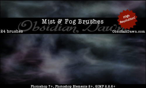 Free Photoshop Brushes - Mist Brushes