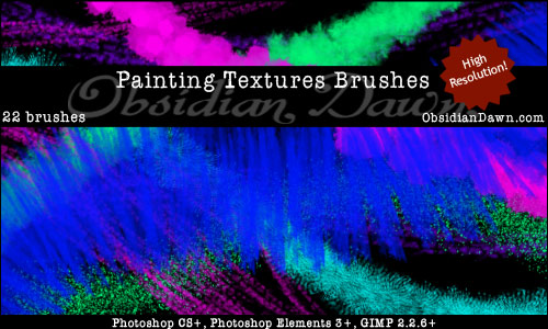 Painting Textures Photoshop & GIMP Brushes