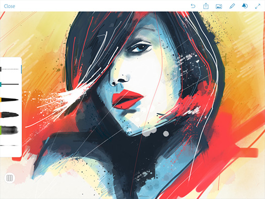 Photoshop Sketch is an expressive sketching and painting app for your iPad