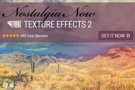 Topaz Labs is excited to announce the release of Texture Effects 2, with a new image processing engine that uses extensive GPU, 90 new textures, over 400 effects, new workflow features, and an improved user interface