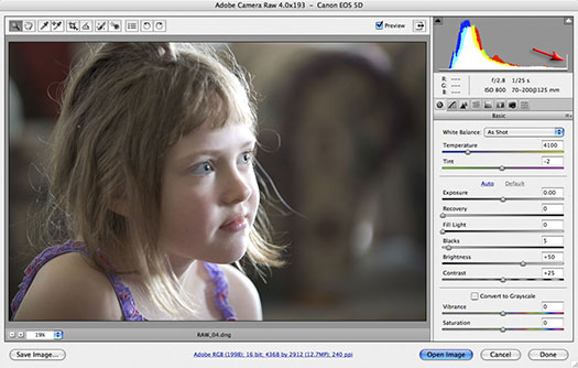 Adjusting Exposure in Adobe Camera Raw - Photoshop CS3 Tutorial - Mark Galer