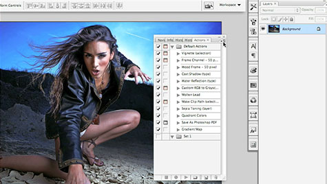 Photoshop cs3 extended frame animation and timeline animation.