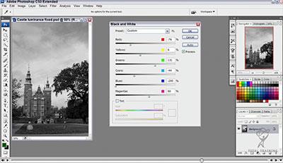 Black And White Adjustment Tool - Free Adobe Photoshop CS3