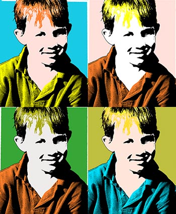 Andy Warhol Pop Art Silkscreen Photoshop Effect
